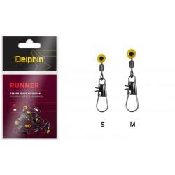 Feedrový bežec s karabínkou Delphin RUNNER / 10ks