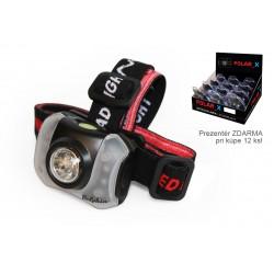 Čelová lampa Delphin POLAR_X | 5+4 LED